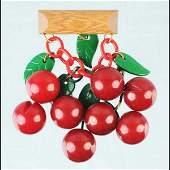567 Vintage Bakelite Carved Bing Cherry Brooch