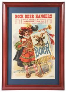 BOCK BEER PAPER ADVERTISEMENT.