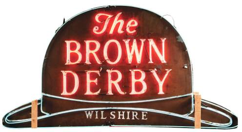 """PAINTED RIPPLED STEEL """"THE BROWN DERBY WILSHIRE"""""""