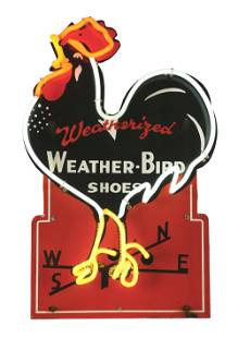 WEATHER-BIRD SHOES NEON SIGN.