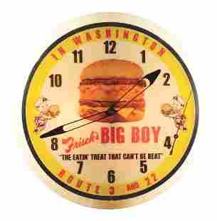 FRISCH'S BIG BOY LIGHTED CLOCK.