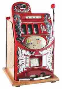 25¢ MILLS NOVELTY CO. EXTRA BELL SLOT MACHINE.