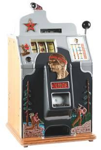 5¢ JENNINGS ONE STAR CHIEF SLOT MACHINE.
