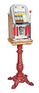 25¢ MILLS ARROW-HEAD LIGHT-UP SLOT MACHINE WITH