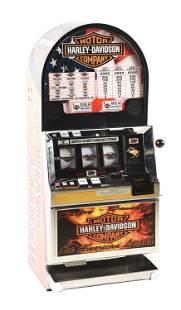 25¢ BALLY HARLEY DAVIDSON SLOT MACHINE.