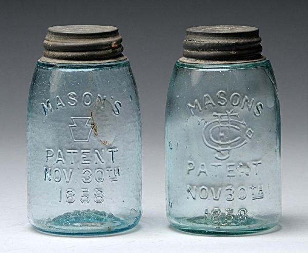 7: Lot of 2: Mason's Canning Jars.
