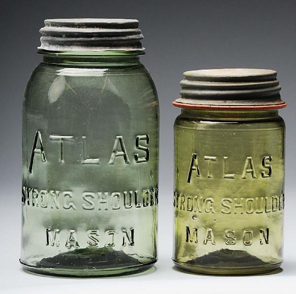 9: Lot of 2: Atlas Mason's Canning Jars.