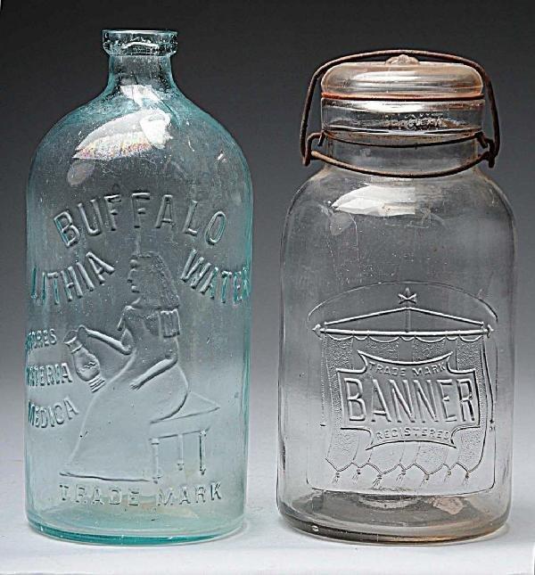 14: Lot of 2: Bottles.