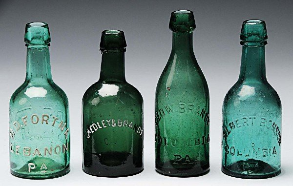 16: Lot of 4: Early Beer Bottles.