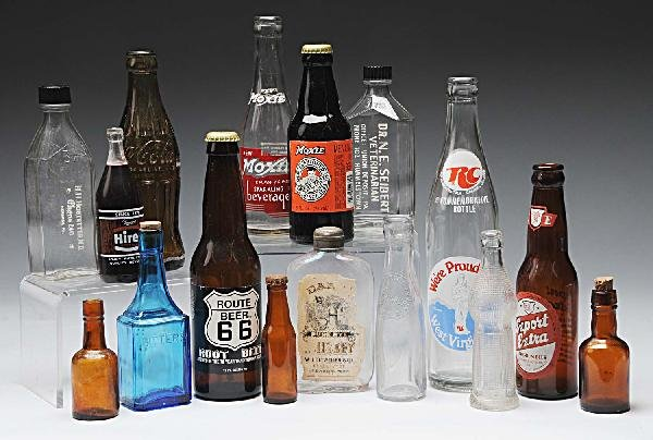 19: Lot of 16: Early Soda & Medical Related Bottles.