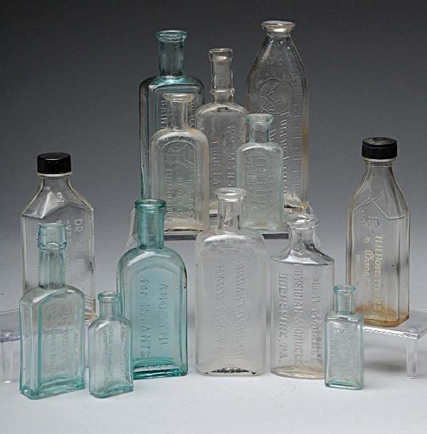23: Lot of 13: Medical Related Bottles.