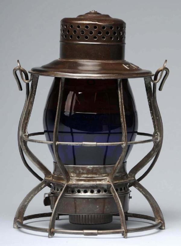 248: Rare Bi-Colored Pennsylvania Railroad Lantern.