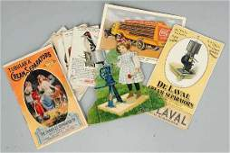 513 Lot of 10 Advertising Trade Cards  Brochures