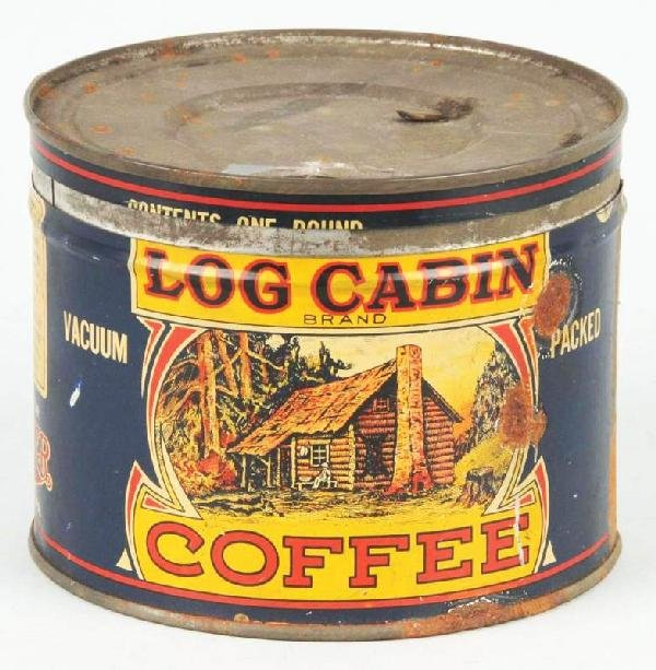 3: Log Cabin 1-Pound Coffee Can.