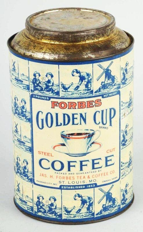 4: Forbes 3-Pound Golden Cup Coffee Can.