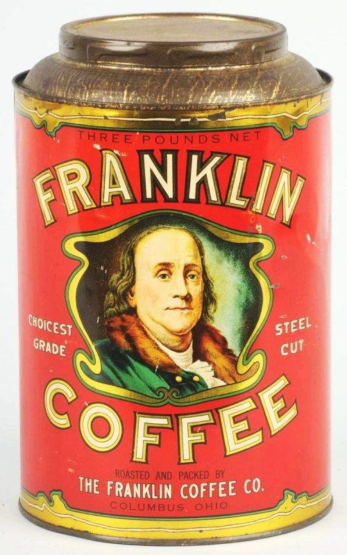 6: Franklin 3-Pound Coffee Can.