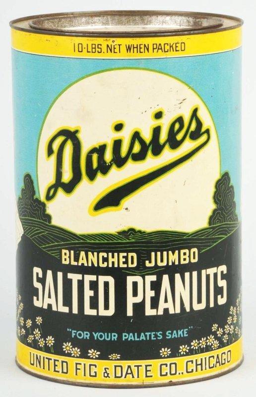 17: Daisies 10-Pound Peanut Tin.