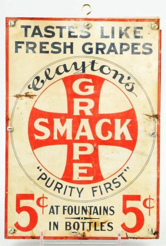 20: Tin Grape Smack Sign.