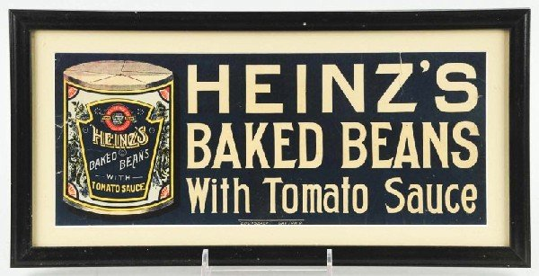21: Cardboard Heinz's Baked Beans Sign.