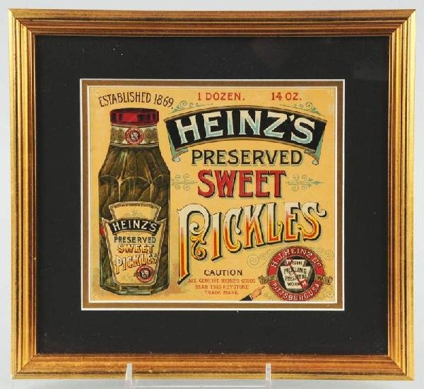 22: Paper Heinz's Pickles Advertising Sign.