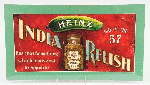 23: Cardboard Heinz India Relish Trolley Sign.