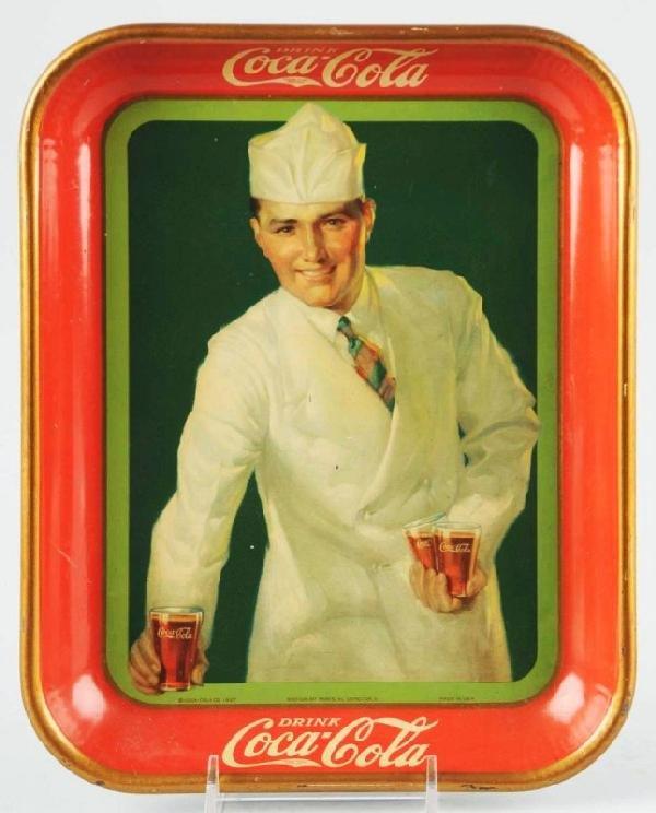 138: 1928 Coca-Cola Serving Tray.