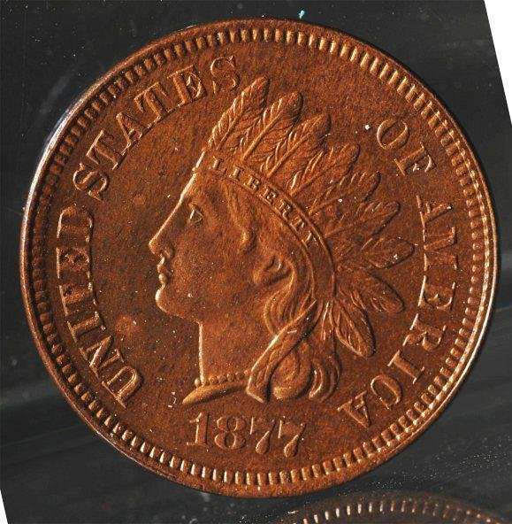 118: 1877 Indian Head Penny.