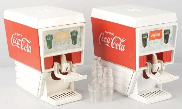 15: Lot of 2: Plastic Coca-Cola Syrup Dispensers.