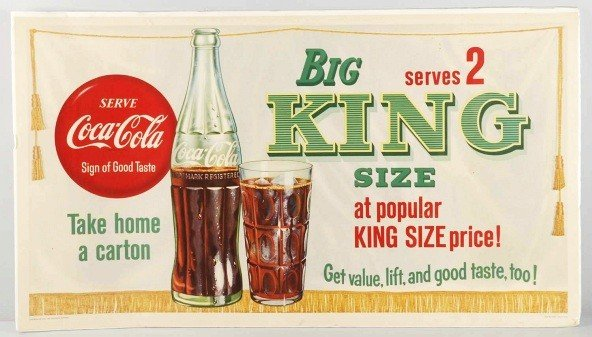 16: Lot of 3: Coca-Cola & Big King Advertising Signs.