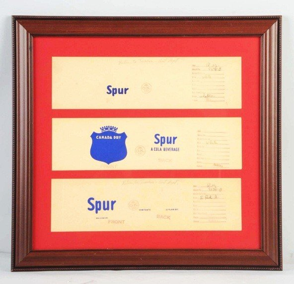 20: Lot of 3: Framed Spur Signs.