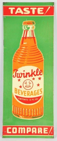 23: Tin Twinkle Beverages Sign.