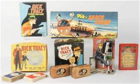 283: Lot of 6: Vintage Dick Tracy Collectible Items.