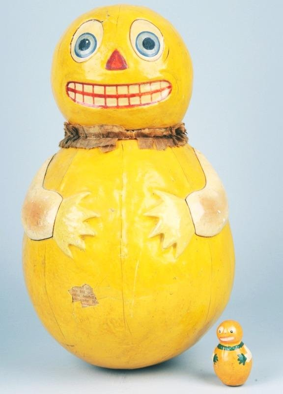 3: Huge Roly Poly Figural Pumpkin Candy Container.