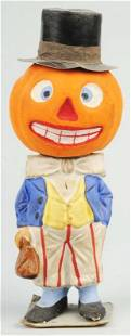Uncle Sam Pumpkin Head Candy Container.