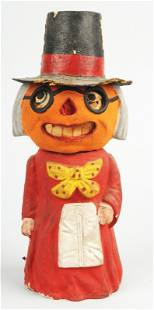 Pumpkin Headed Witch Lantern/Candy Container.