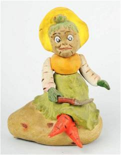 Vegetable Woman Halloween Candy Container.