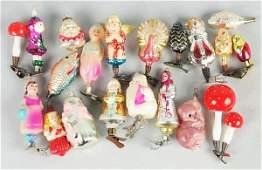 571 Lot of 20 German  Russian Christmas Ornaments