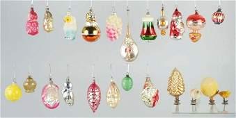 650 Lot of Blown Glass Ornaments
