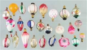 774 Lot of 25 Figural Christmas Light Bulbs