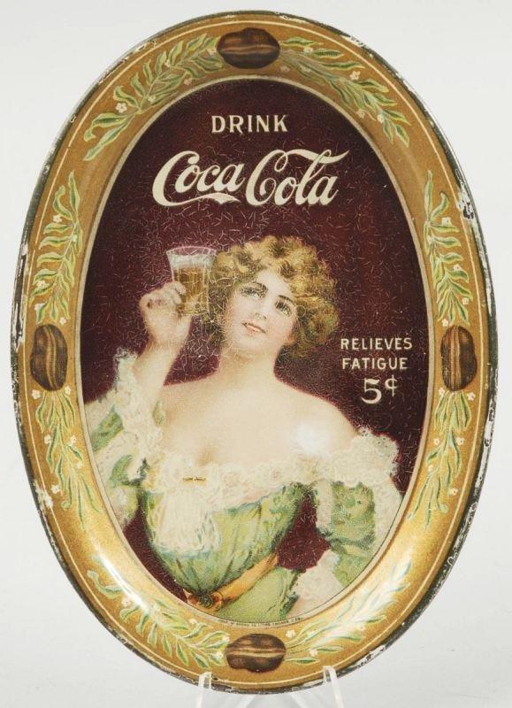 1: 1907 Tin Coca-Cola Change Tray.