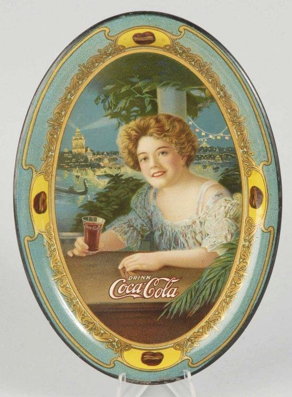 2: 1909 Tin Coca-Cola Tip Tray.