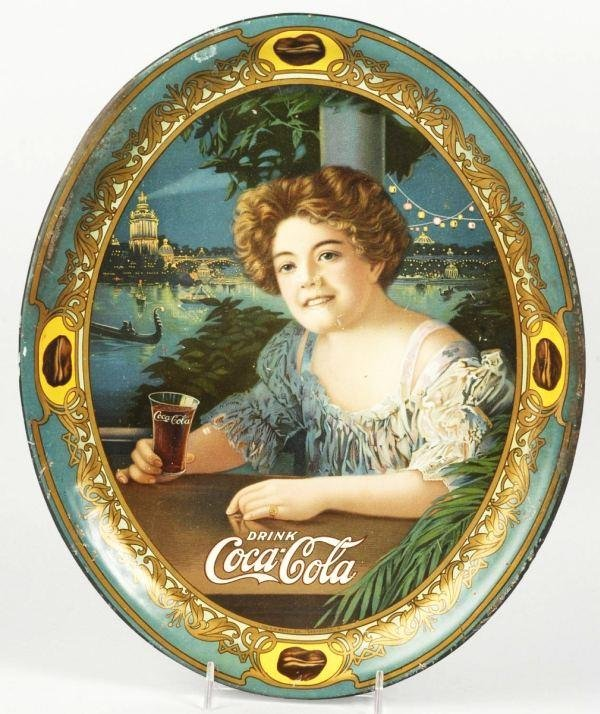 9: 1909 Tin Coca-Cola Oval Serving Tray.