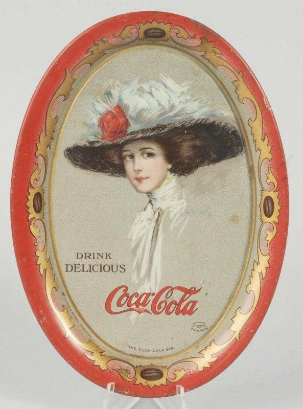 12: 1910 Tin Coca-Cola Tip Tray.