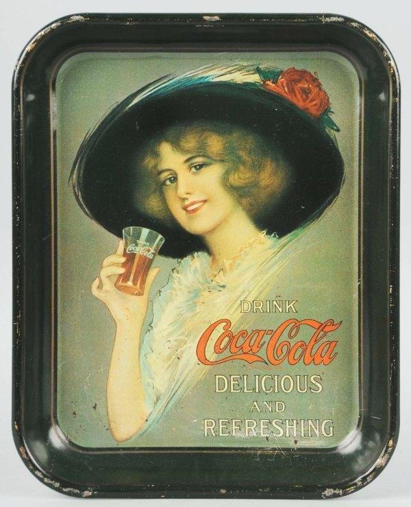 13: 1913 Tin Coca-Cola Serving Tray.