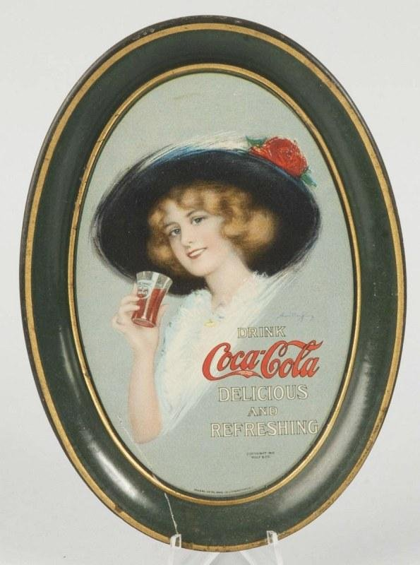 14: 1913 Tin Coca-Cola Tip Tray.