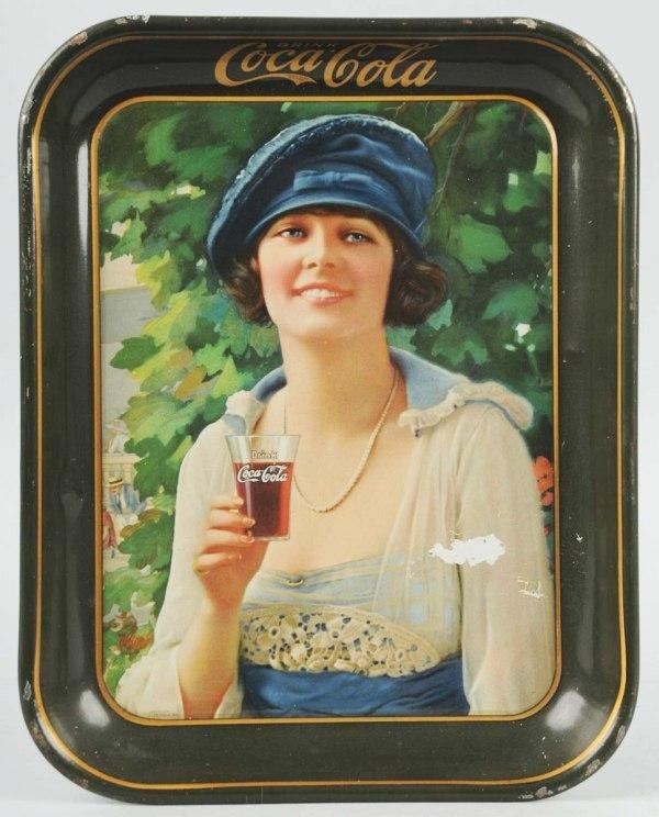 19: 1921 Tin Coca-Cola Serving Tray.