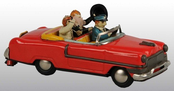20: Tin Cadillac Just Married Automobile Friction Toy