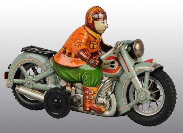 29: Tin Litho Harley Davidson Motorcycle Friction Toy