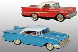387 Lot of 2 Tin Litho Ford Automobile Toys