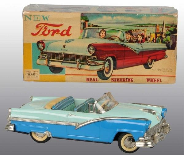 532: Tin Litho Ford Sunliner Friction Toy.